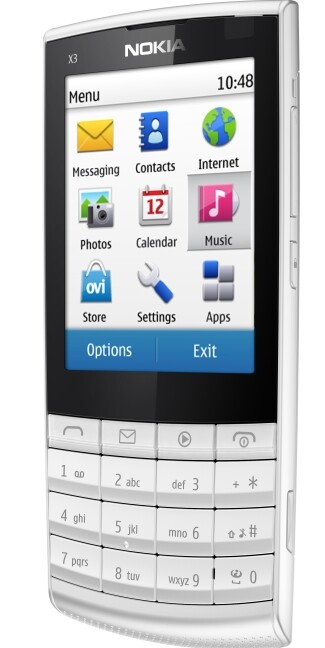 nokia neues x3 mit touchscreen und klassischer tastatur. Black Bedroom Furniture Sets. Home Design Ideas