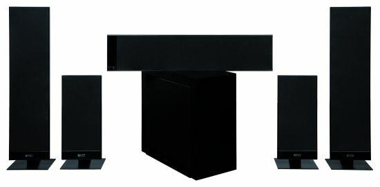 kef t series t 205 superflaches surround set im test netzwelt. Black Bedroom Furniture Sets. Home Design Ideas