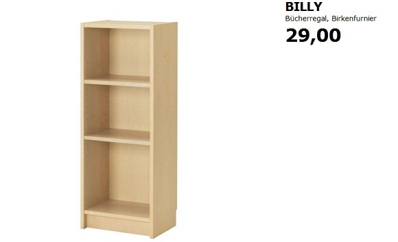 siegeszug der e books ikea passt billy regal an netzwelt. Black Bedroom Furniture Sets. Home Design Ideas