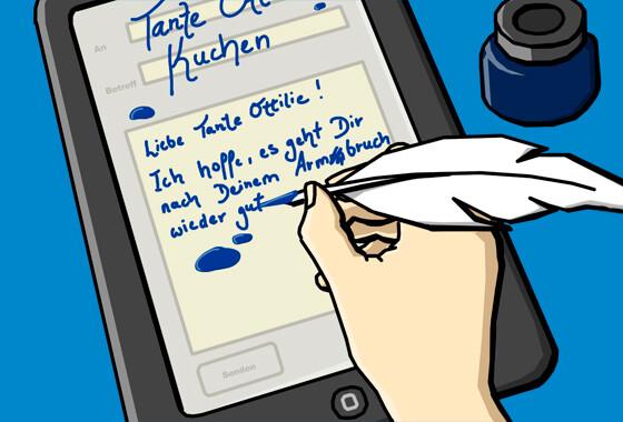 Briefe Schreiben Heute : Verkehrte netzwelt tante ottilie und das e mail elend