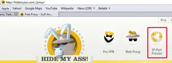 Isp browser proxy