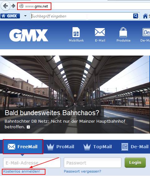 Gmx Anmelden Kostenlos