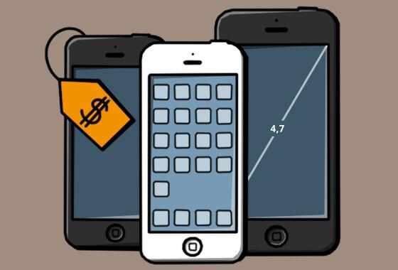 Bringt Apple 2013 neben dem iPhone 5S (Mitte) auch ein Billig-iPhone und ein XXL-iPhone auf den Markt? (Bild: netzwelt)