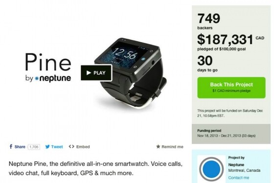 kickstarter projekt smartwatch neptune pine mit videochat und gps netzwelt. Black Bedroom Furniture Sets. Home Design Ideas