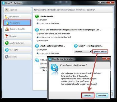 Skype: So löschen Sie Chat-Protokolle - NETZWELT