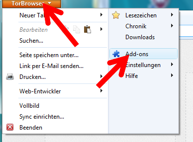 how to delete browser add ons
