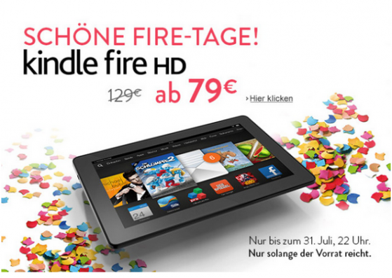 admits the Amazon kindle fire HD The stock is currently get for 50 euros less (Image: Screenshot / amazon)..