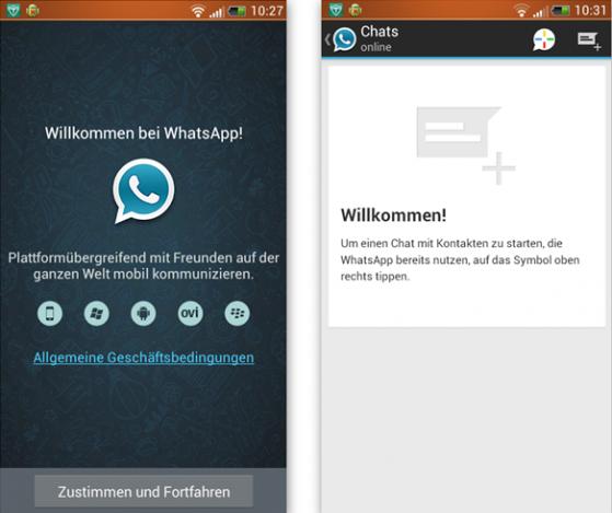 Whatsapp Testnachricht