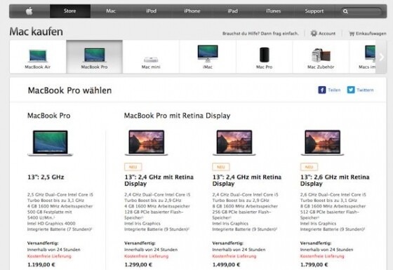 macbook pro das ende f r apple notebooks ohne retina. Black Bedroom Furniture Sets. Home Design Ideas