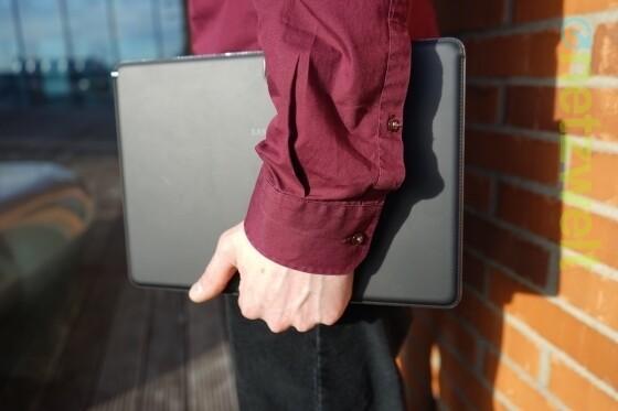 Mächtig groß: Das Galaxy Note Pro 12.2 ist das bislang größte Note-Modell (Bild: netzwelt)