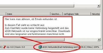 Info über Verbindungs-status in Emule