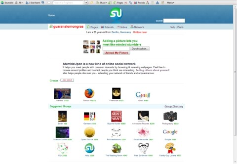 StumbleUpon Profil