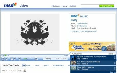 Musikvideos bei MSN Video