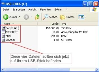 Daten auf dem USB-Stick