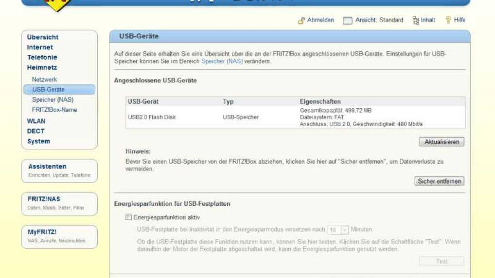 FRITZ!Box: Den Router als NAS-Speicher einrichten - so