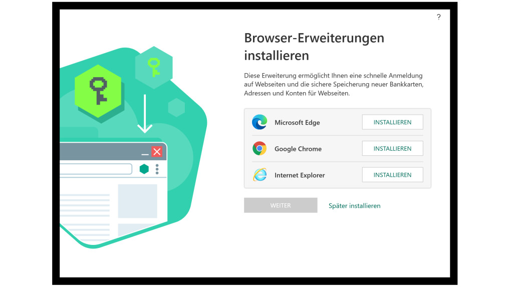 Kaspersky Password Manager can be used as an extension for many browsers.