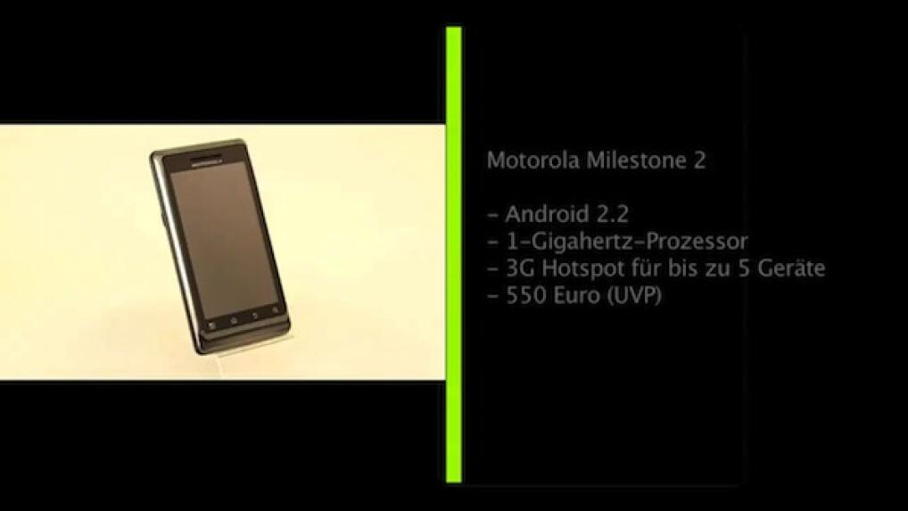 Detailverbesserung: Motorola Milestone 2 im Test - NETZWELT