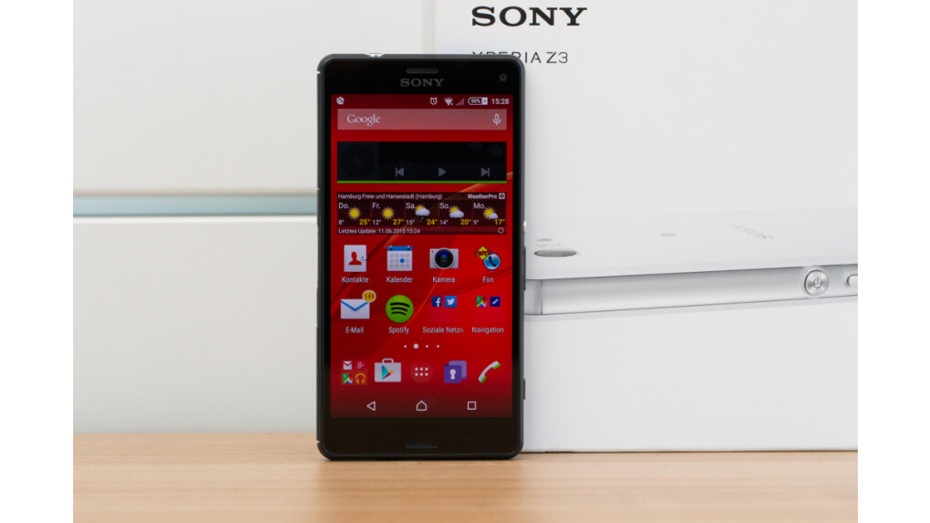 sony xperia z3 compact im test high end auf nur 4 6. Black Bedroom Furniture Sets. Home Design Ideas