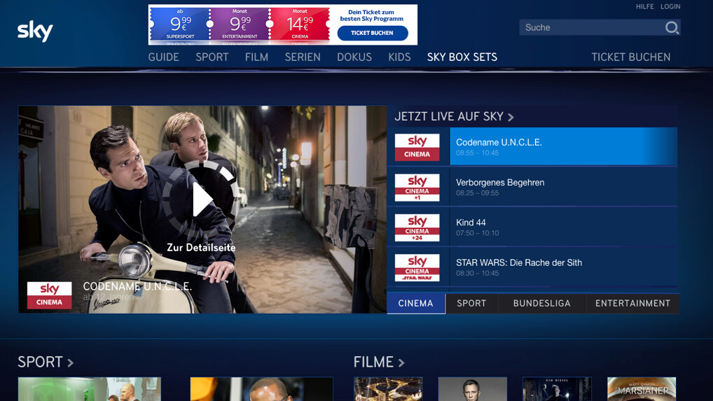 Sky Ticket Stream