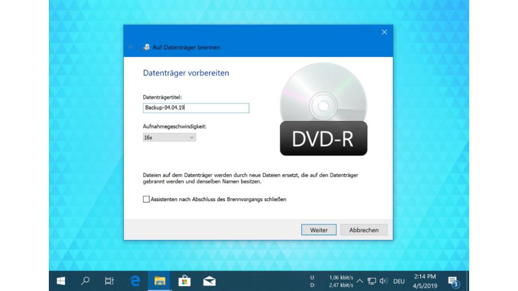 Win 10 Auf Dvd Brennen