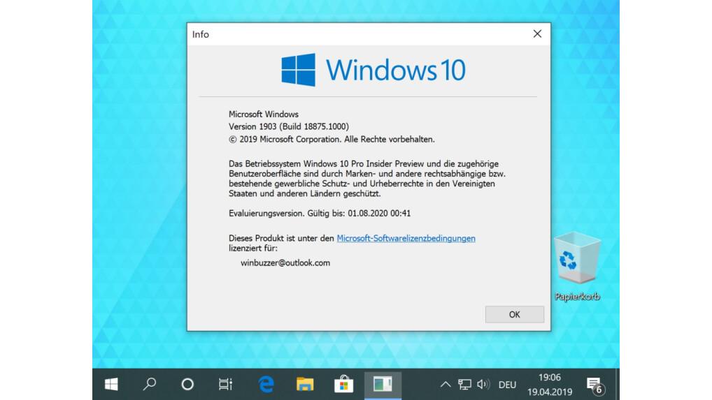 Windows 10 Nummer