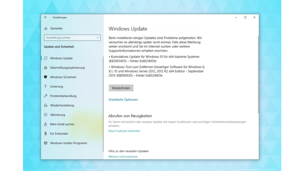 Windows 10 Hängt