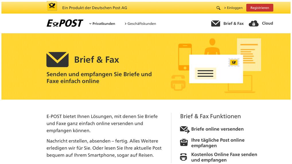 E Post Im Test Online Fax Service Der Deutschen Post Ausprobiert