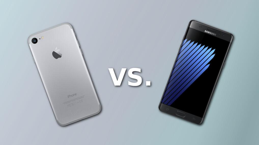 galaxy note 7 vs iphone 7 jetzt zuschlagen oder auf das apple smartphone warten netzwelt. Black Bedroom Furniture Sets. Home Design Ideas