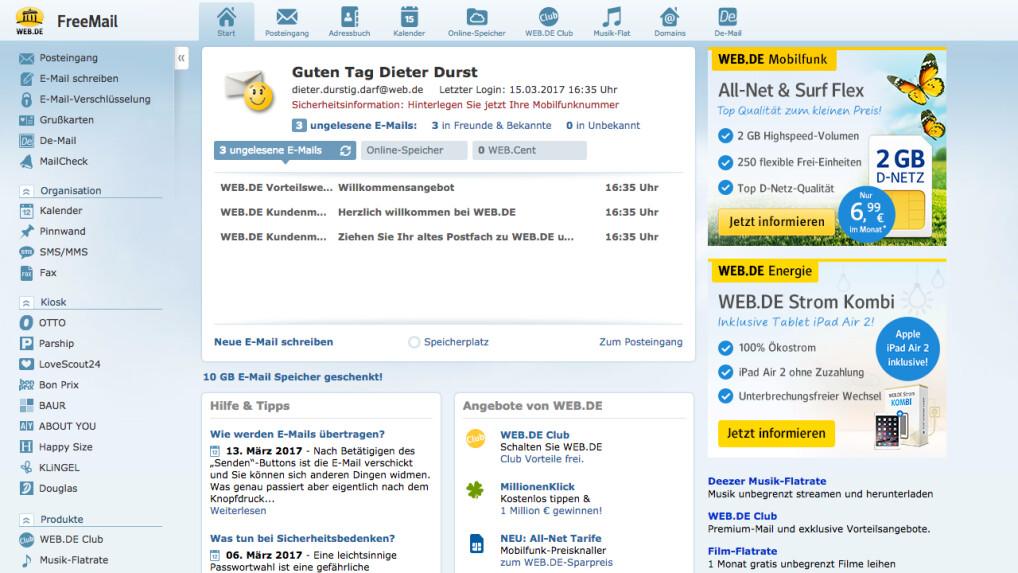 Web.de im Test: Diese Mailbox kostet Nerven - NETZWELT