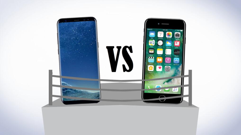 galaxy s8 vs iphone 7 top smartphones im ersten. Black Bedroom Furniture Sets. Home Design Ideas