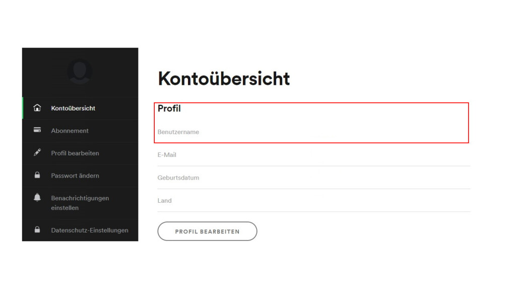 Benutzername ändern Spotify