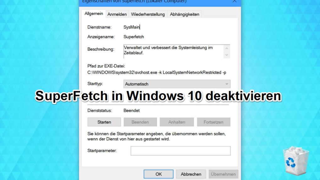 Windows dienst starten ohne anmeldung