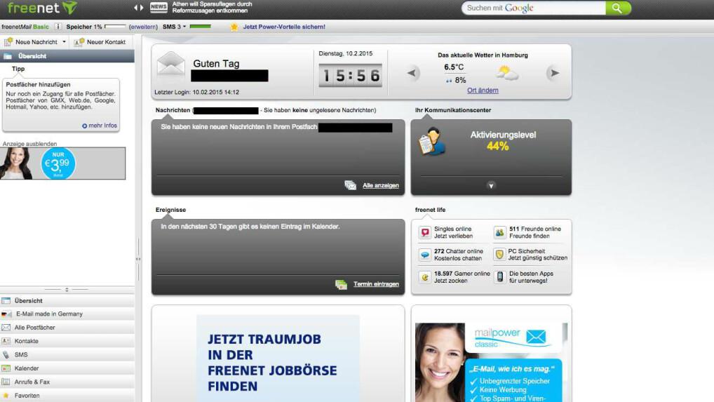 web.de freenet