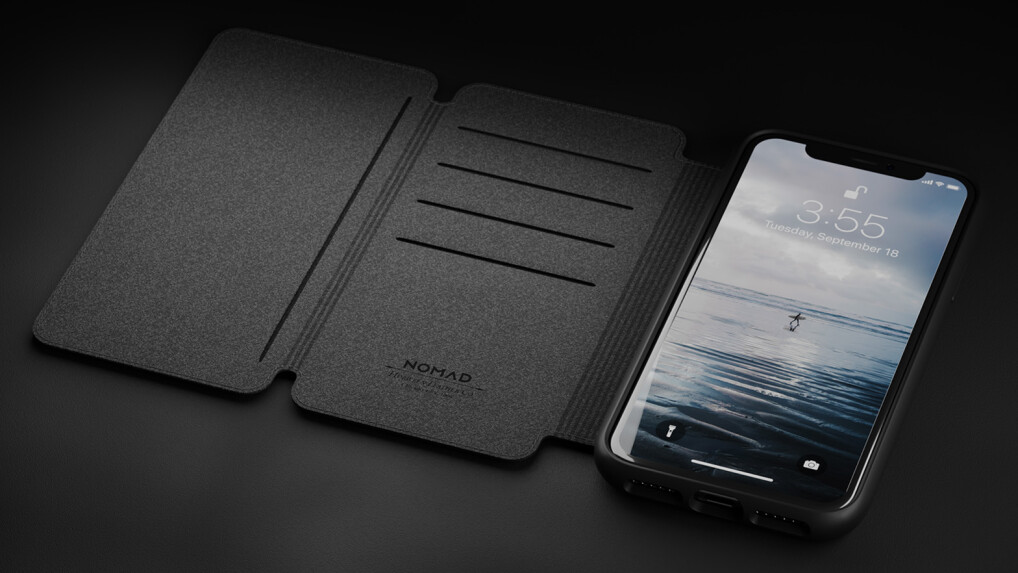 iphone xs max leder folio im test nomad rugged case mit. Black Bedroom Furniture Sets. Home Design Ideas
