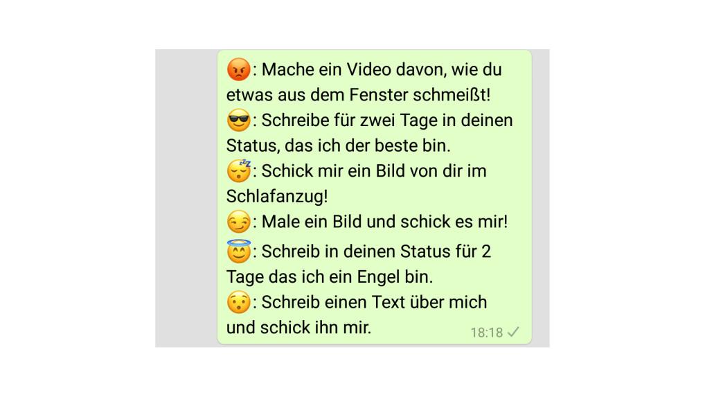Whatsapp fragen pervers für Pervers gefragt!