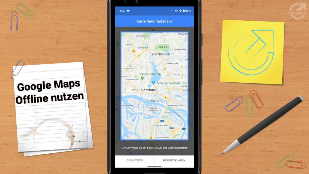 Google Maps So Nutzt Ihr Eure Karten Offline Netzwelt