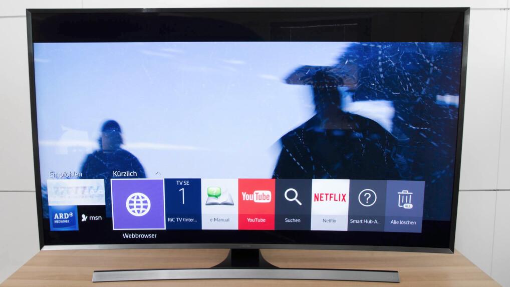 samsung ue55ju7590 im test 4k curved tv mit tizen netzwelt. Black Bedroom Furniture Sets. Home Design Ideas
