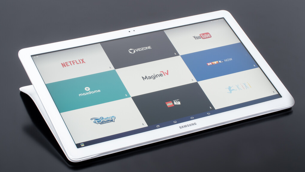 samsung galaxy view im test ein tablet fernseher mit android netzwelt. Black Bedroom Furniture Sets. Home Design Ideas