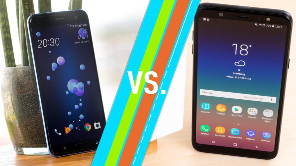 Htc U11 Vs Samsung Galaxy A6 2018 Smartphones Im Vergleich