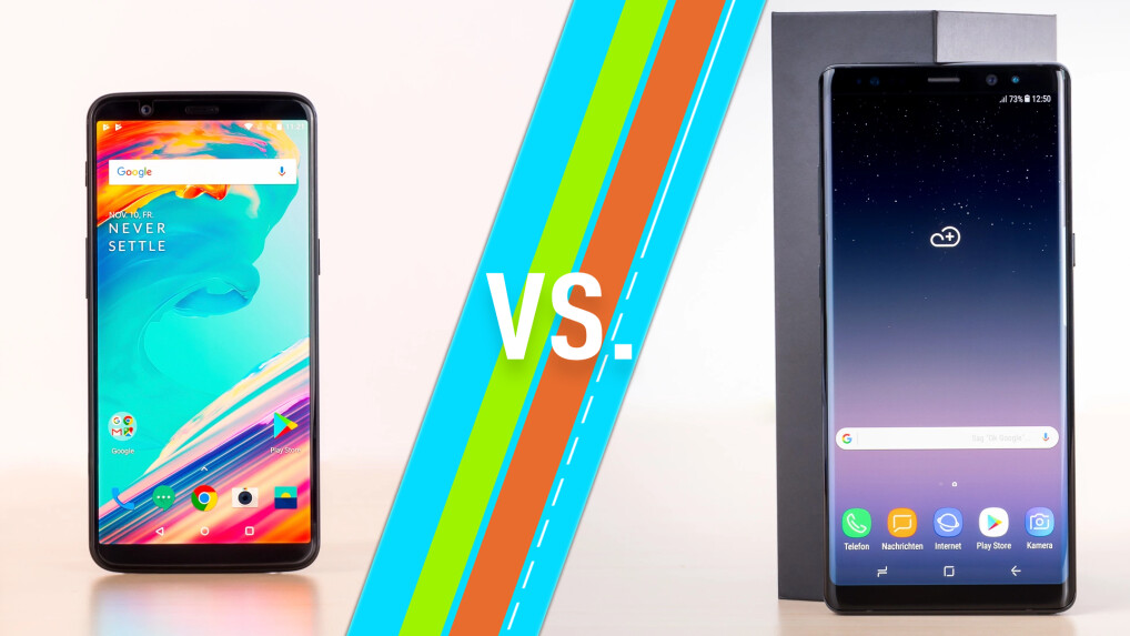 OnePlus 5T vs. Samsung Galaxy Note 8