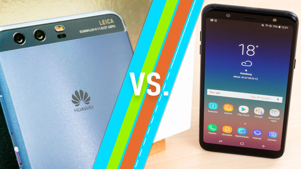huawei p10 vs samsung galaxy a6 plus 2018 welches. Black Bedroom Furniture Sets. Home Design Ideas