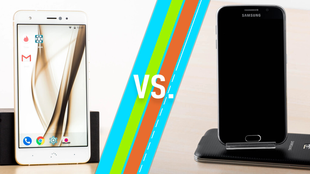 BQ Aquaris X Pro vs. Galaxy S6