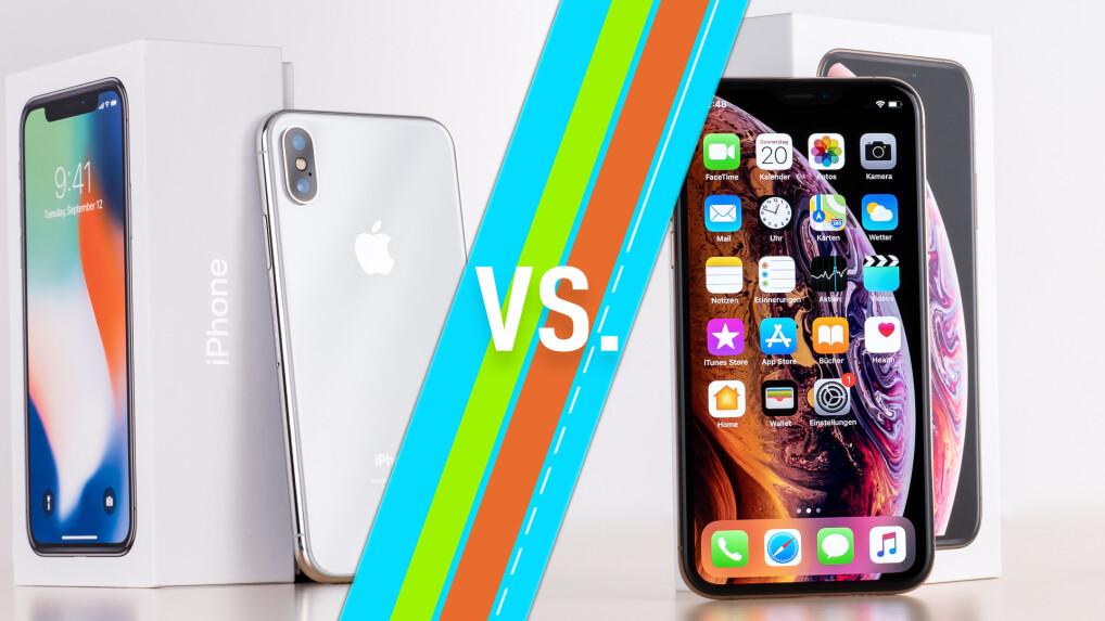 iphone x vs iphone xs apple smartphones im vergleich. Black Bedroom Furniture Sets. Home Design Ideas