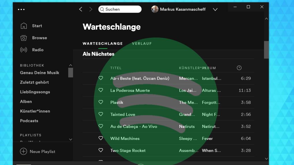 Spotify Warteschlange Löschen