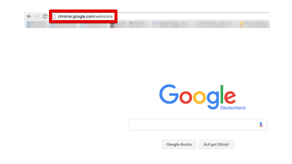 Google Menüleiste Installieren