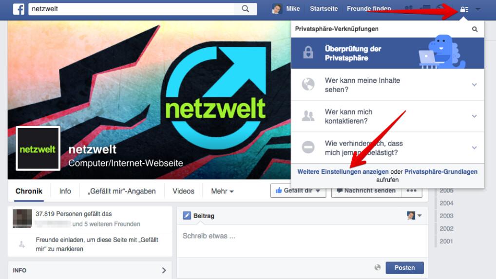 Facebook: Profil vor Google verbergen   NETZWELT