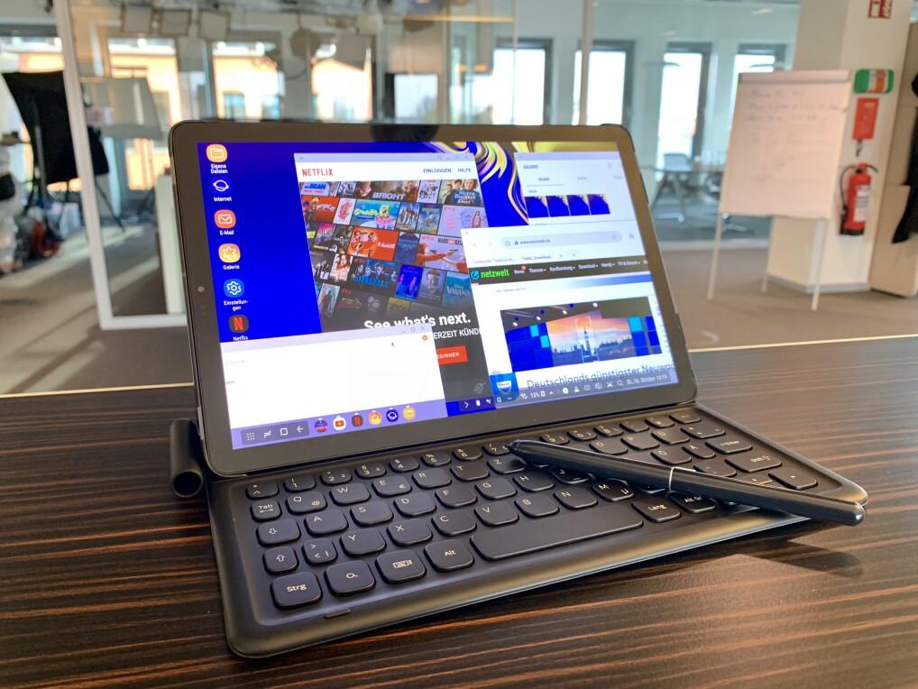 """Samsung Galaxy Tab S4 im Test: """"DeXtakulär"""" im Alltag, mit Maus und Tastatur"""