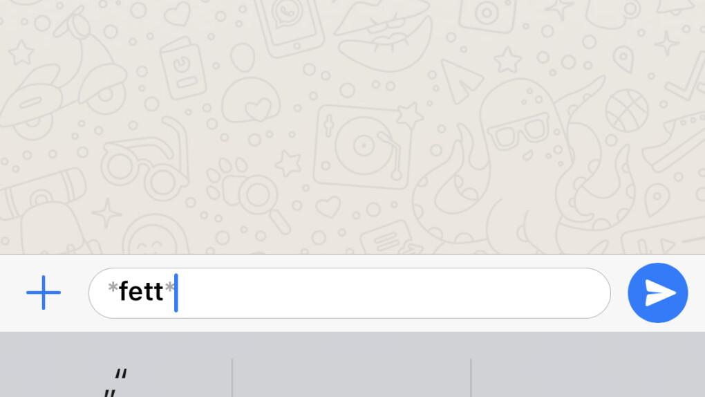whatsapp bunt schreiben