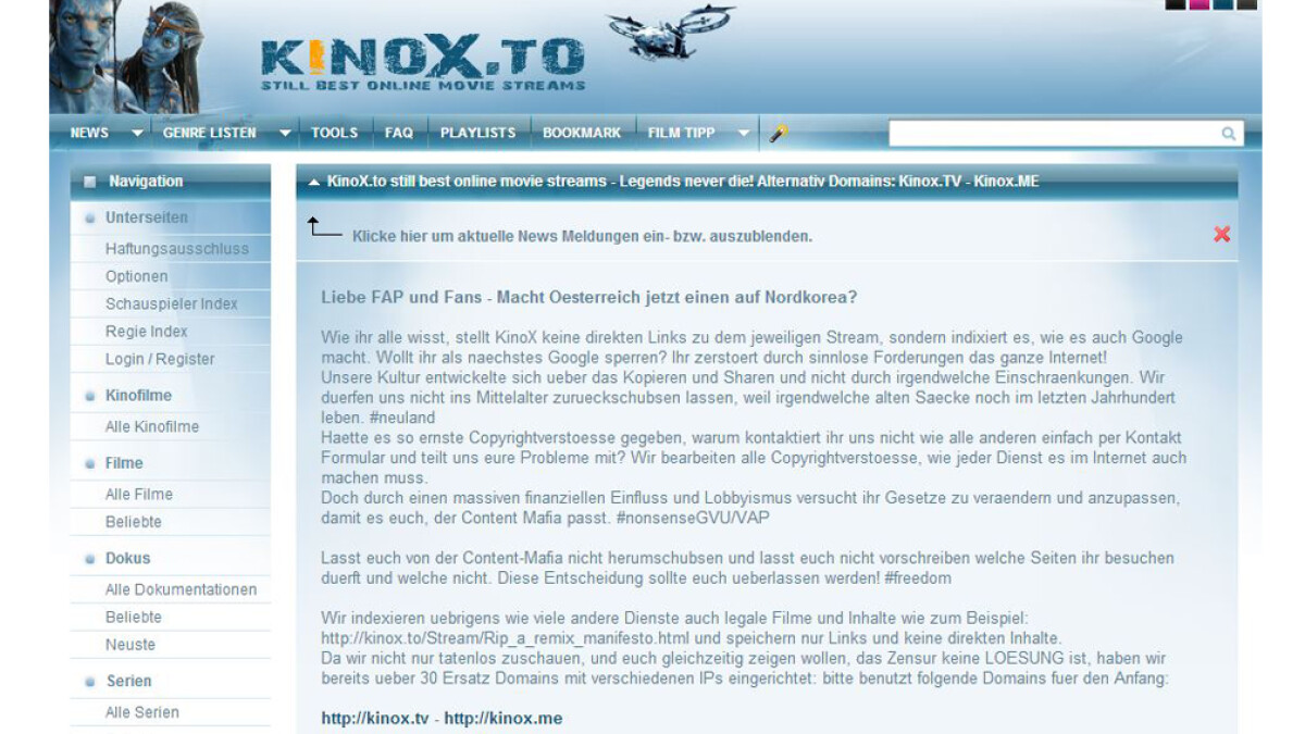 Kinox Ersatz