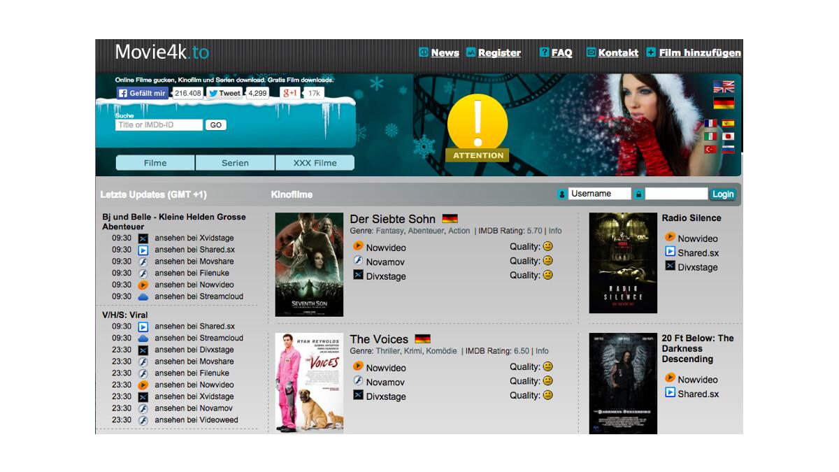 Movie4k.to est l'un des sites web les plus populaires en Allemagne.